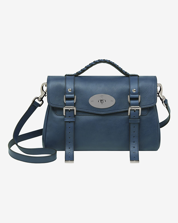 Mulberry Alexa Soft Buffalo Bag in Slate Blue $1,500